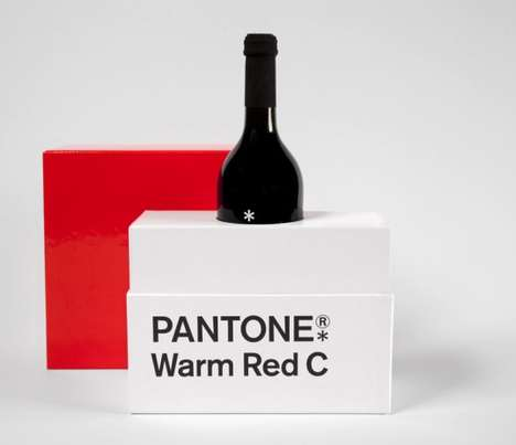Alcoholic Pantone Packaging - Designers Anonymous Created the 'Warm Red' Pantone Gift
