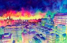 Rainbow-Hued City Renderings