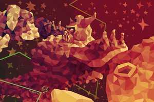 Gusiv Vlad Illustrates Imaginative Scenes Using a Variety of Triangles