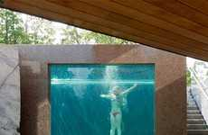 Stunning Transparent Pools - The 'DAPstockholm' Pool Offers a View of Swimmers from the Outside