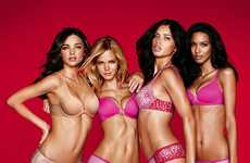 Pretty Pink Lingerie Looks - Victoria's Secret Valentine's Day 2012 Lookbook is Fun & Sweet