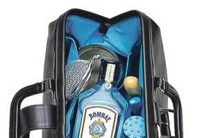 The Bombay Sapphire Bar Bag is an Opulent Accessory for Mix Masters