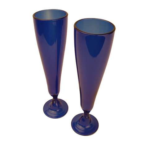 Eco-Chic Stemware - Monaco Champagne Flutes are Made from Recycled Wine Bottles