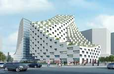 Undulating Pixelated Buildings