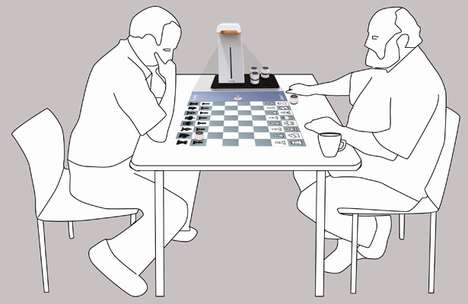 Projected Chess Sets - TEPOS is Hi-Tech Entertainment Designed for the Elderly