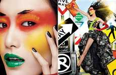 Freakish Makeup Date-Keepers - The Maybelline 2012 Calendar is Psychedelically Bold