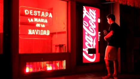 Secret Winter Wonderland Ads - The Coca-Cola Magic Machine Brings the Joy of Xmas to Visitors