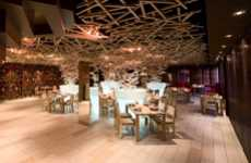 Beaver Dam Ceilings - Silver Restaurant by DarkDesignGroup Feature Beautiful Wood Accents