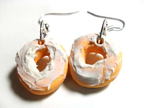 Frosted Doughnut Earrings