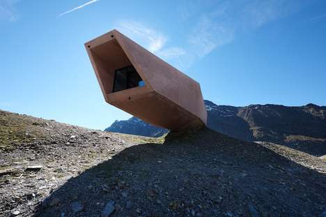 Landscape-Integrated Installations - The Timmelsjoch Museum is Gravity-Defying Architecture