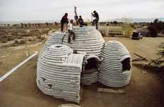 Cylindrical Sandbag Shelters