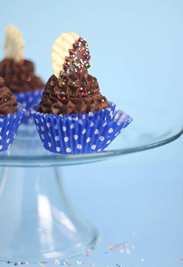 Chocolate Mashed Potato Cupcakes