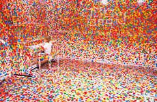Chaotic Sticker Installations - The Obliteration Room by Yayoi Kusama Targets Color-Loving Kids