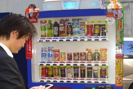 Wi-Fi Drink Dispensers - Asahi Beverages Rolls Out Vending Machines That Provide Internet Access