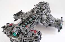 This LEGO Hyperion Battlecruiser Recreates StarCraft 2 Vehicle