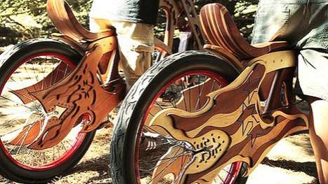 salvaged wood bikes