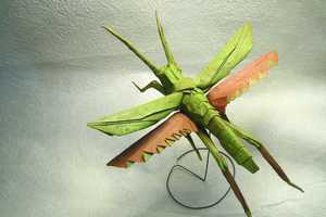 Brian Chan's Fixation with Origami Takes on an Insect Form