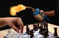 Melting Strategy Games - The Ice Speed Chess Set Quickens the Match Significantly