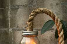 Rustic Jar Lighting