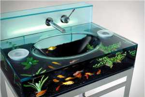 The Moody Aquarium Sink Brings a Lively Bathroom Fixture to the Home