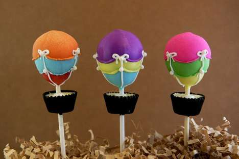Airborne Bites - These Hot Air Balloon Cake Pops are Wonderfully Whimsical