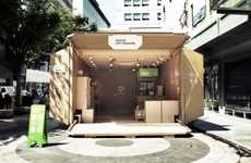 Cardboard Box Pop-Up Shops - Naver App Square is a Cool Temporary Store by Urbantainer