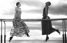 Seaside Gymnast Captures - The Chanel Spring Ad Campaign Stars Joan Smalls and Saskia de Bra