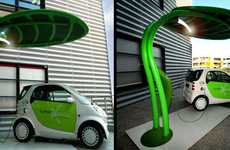 Leafy Vehicle Juicers - Lotus EV Charger Works Double-Duty as a Streetlight