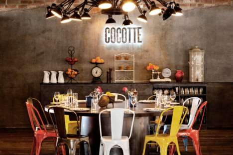 Rustic Industrial Restaurants - Cocotte Presents a Gritty Interior Design
