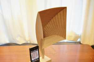 The Plywood iVictrola Design for iPhones is a Fun Project