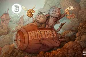 Artist Felideus Bubastis Renders Bold Buskers Beer Labels