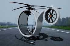 Circular Single-Seat Choppers - The Zero Helicopter Concept is Designed for Aviation Neophytes