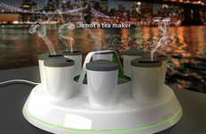 Energy-Saving Tea Trays - The Teps Tea Maker Cuts the Electricity and Water Used During Brewing