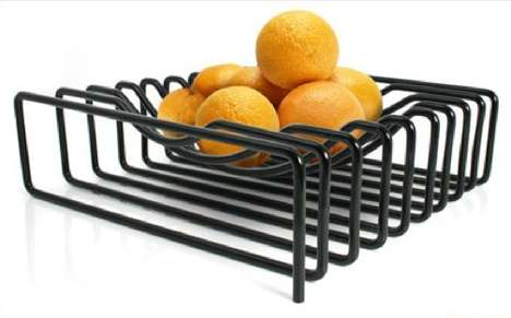Block Design Wire Fruit Bowl