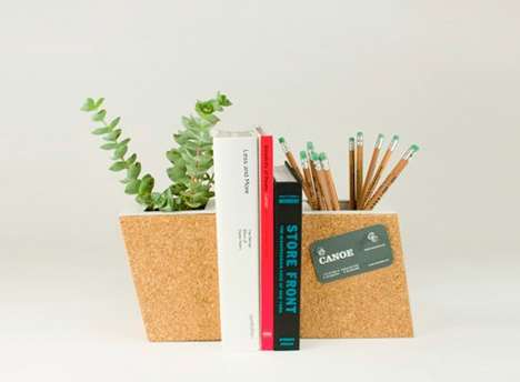 Cork Planter Bookends
