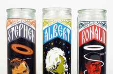 Physicist Portrait Torches - Patron Saints of Time Travel Candles Lights the Home Scientifically