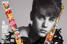 High Fashion Heartthrob Shoots - The Justin Bieber V Magazine Editorial is Unexpected Yet Alluring