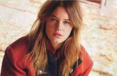 Rustic Western Editorials - The Camille Rowe for Elle Italia Photo Shoot is Stunning and Rugged