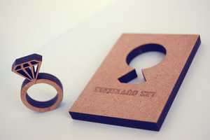 Les Ouvrieres Wooden Rings Come in Their Original Stenciled Panels
