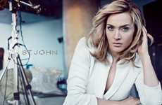 Elegant Refined Daywear - Kate Winslet is the Sophisticated Star of St. John Spring 2012 Campaign