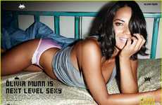 Geeky Girl Lingerie Shoots - The Olivia Munn for FHM UK Photo Shoot Shows Off Her Nerdy Side