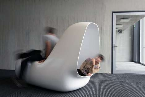 Sinuous Slumber Pods - SleepBox by Caspar Lohner Offers Peace in Busy Environments