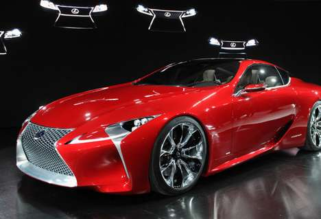 Hi-Tech Touchscreen Vehicles - Lexus LF-LC Features Integrated Digital Features & Functions