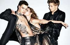 Sandwiched Suitor Snapshots - The Just Cavalli Spring Campaign Gets Rock and Roll Spinning