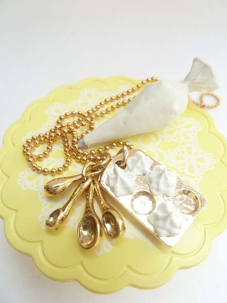 Beautiful Baking-Inspired Bling - The Who Ate My Cupcakes Necklace is for the Baker in Your Life