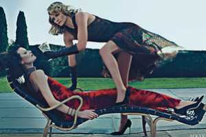 The Amber Valletta and Shalom Harlow Photo Shoot is Stunningly Glam