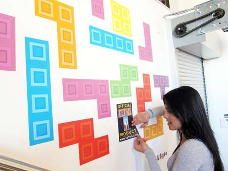 Alterable Gamer Decor - Play a Real Life Game of Tetris with the Tetrominos Wallpaper