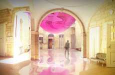 Fluid Fuchsia Installations - The David Tajchman 'Surprise Surprise' Sculpture is Dream-Like