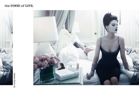 Mime-Inspired Mistress Shoots - The Querelle Jansen Vogue Italia January 2012 Shoot Exudes Love
