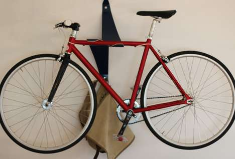 Geometric Bicycle Brackets - The Bike Valet Embodies the Art of Efficient Apartment Storage